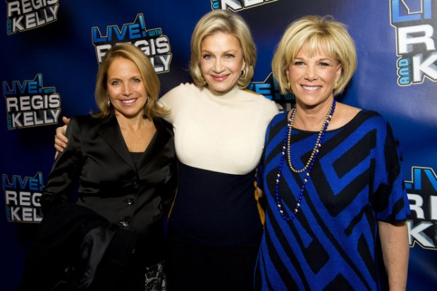 Katie Couric, Diane Sawyer with Joan London