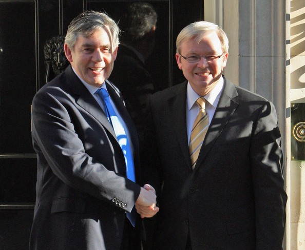 Prime Minister Gordon Brown Meets With Australian Prime Minister Kevin Rudd
