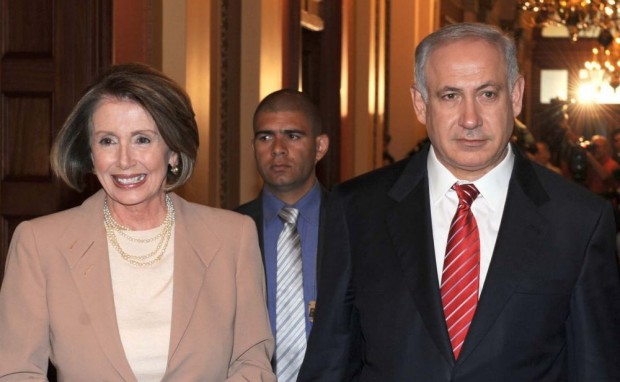 Nancy Pelosi with Israeli Prime Minister Benjamin Netanyahu at White House
