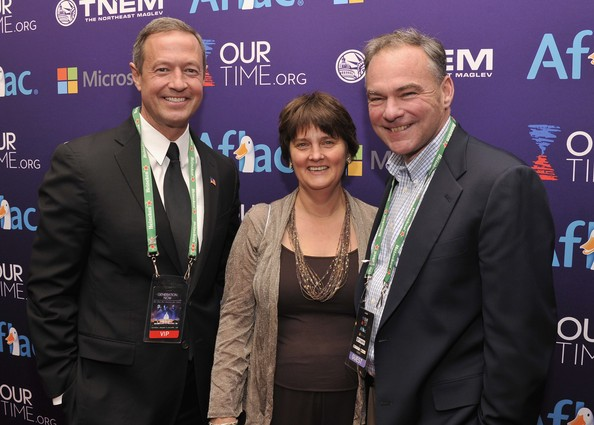 Maryland Governor Martin O Malley, Anne Holton, and Senator Tim Kaine (D-VA) attend the Inaugural Youth Ball