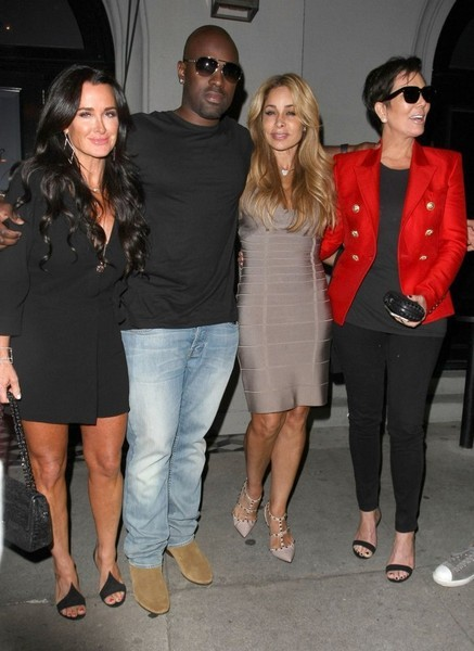 Kris Jenner, Kyle Richards, Faye Resnick with Corey Gamble