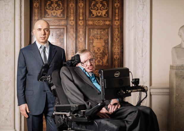 Yuri Milner With Stephen Hawking