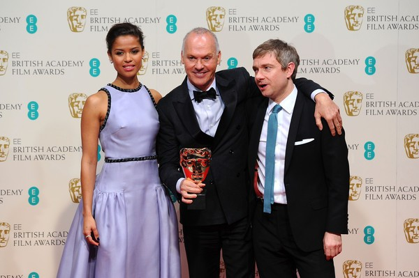 Michael Keaton, Martin Freeman with Gugu Mbatha-Raw