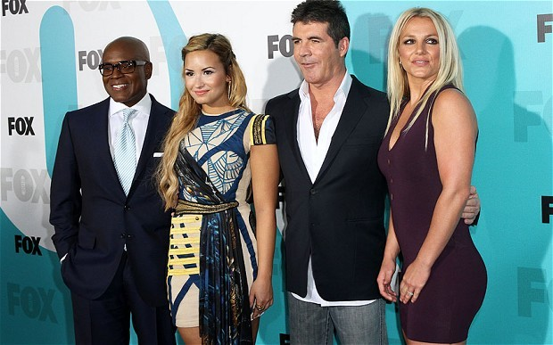 Demi Lovato, LA Reid, Simon Cowell and Britney Spears