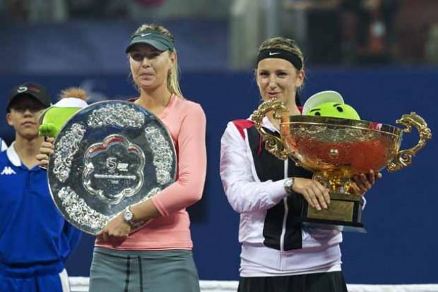 Victoria Azarenka with Maria Sharapova