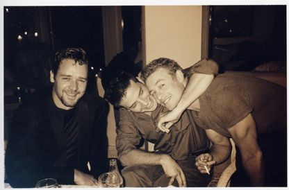 Russell Crowe with Aden Young and Simon Baker