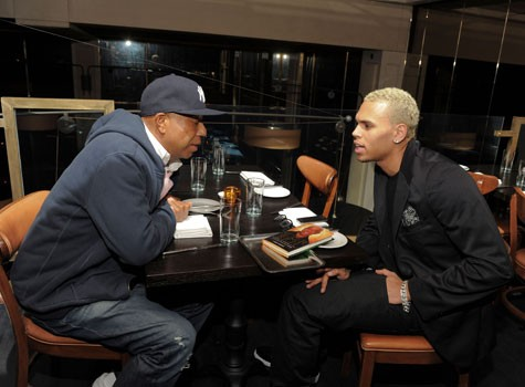 Russell Simmons with Chris Brown
