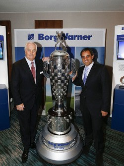 Roger Penske with Borg Trophy