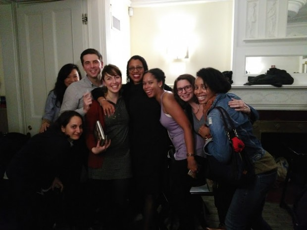 Robin Coste Lewis with her NYU Classmates