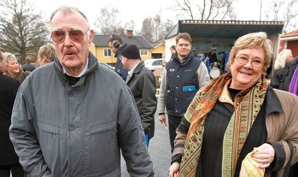 IKEA magnate Kamprad shopping with late wife Margaretha