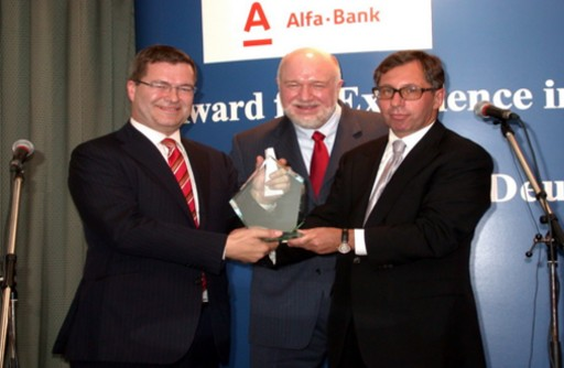 Petr Aven And  Richard Herring Presented Ward For Excellence In Foreign Investment In Russia To Peter Tils
