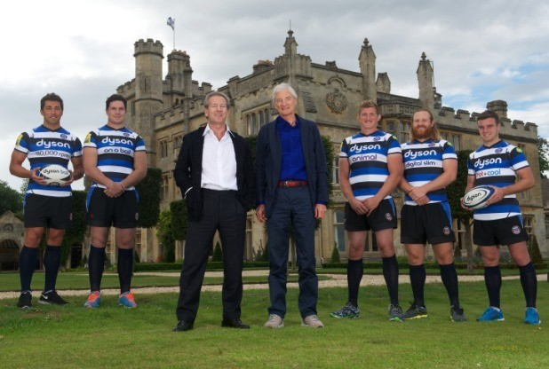 James Dyson With Bath's Rugby Team
