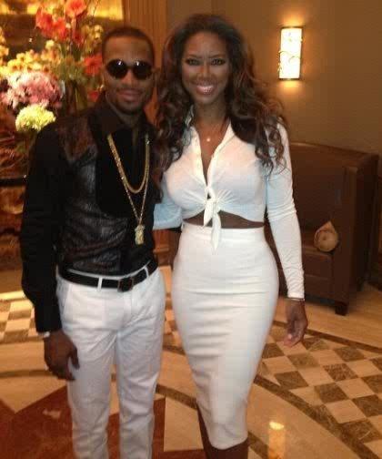 Kenya Moore with D'banj's DKM