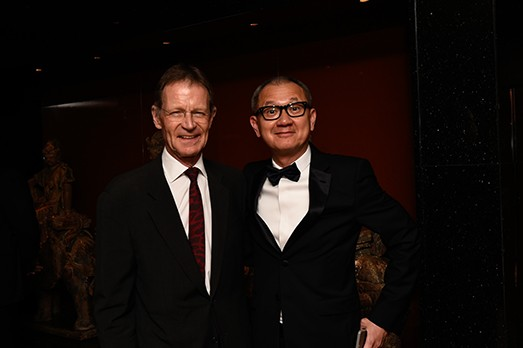 Pierre Chen with Nicholas Serota
