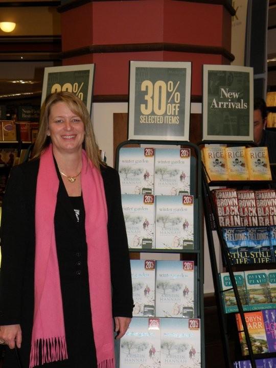 Kristin in a Book Store