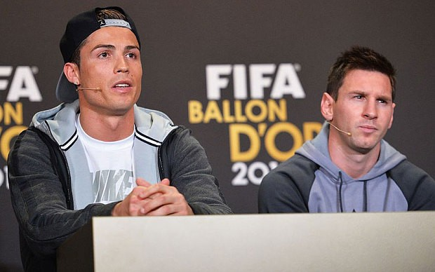 Ronaldo and Messi at FIFA Cermony