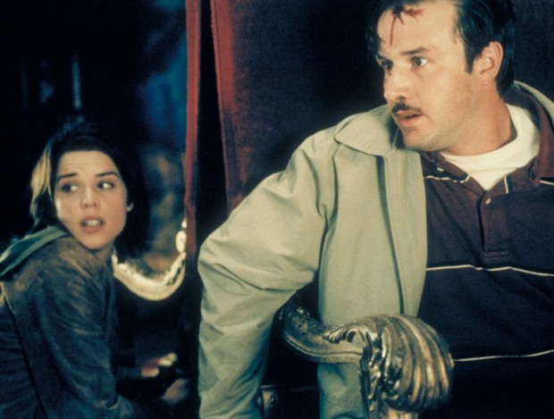 Neve Campbell And David Arquette In Scream 3