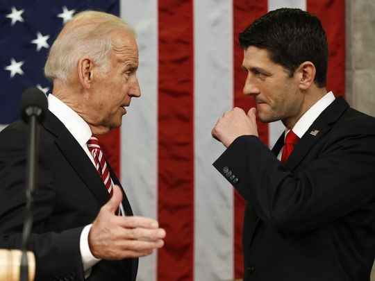 Biden Talks With House Speaker Paul Ryan
