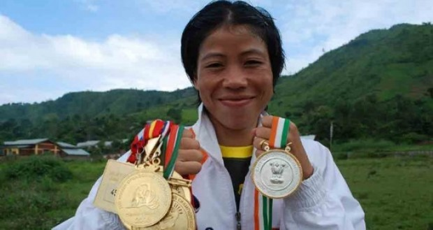 Mary Kom With Her Medals