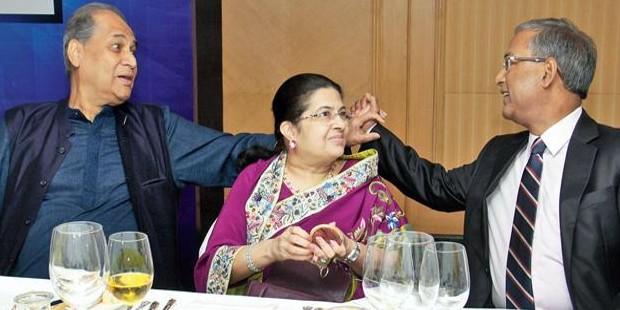 Rahul Bajaj, Rajashree Birla With UK Sinha