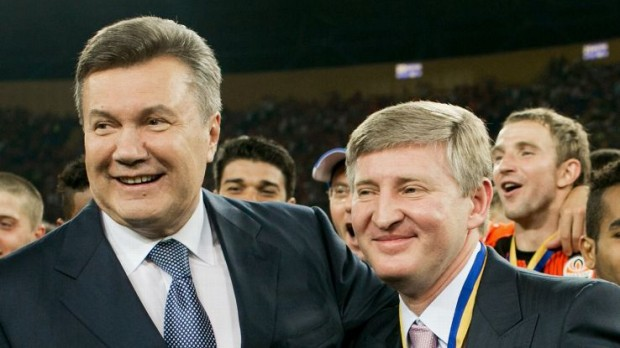 Rinat Akhmetov And His Friend Viktor Yanukovych