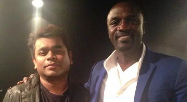 AR Rahman with Akon
