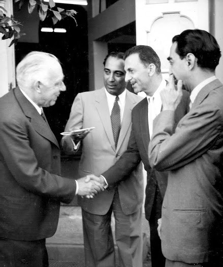J.R.D. Tata at TATA With Niels Bohr