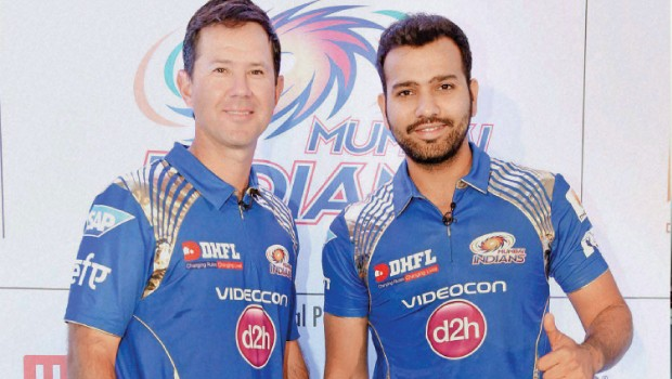 Rohit Sharma With Ricky Ponting