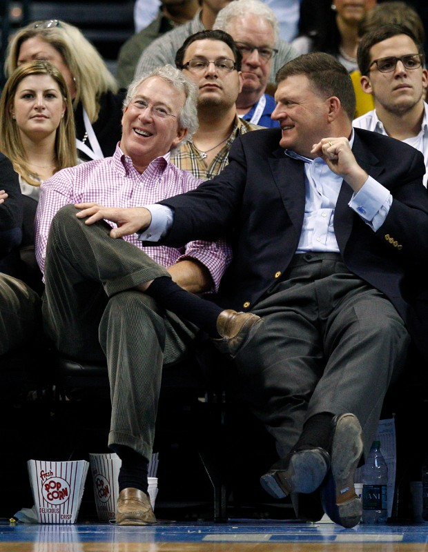 Aubrey McClendon With Clay Bennett