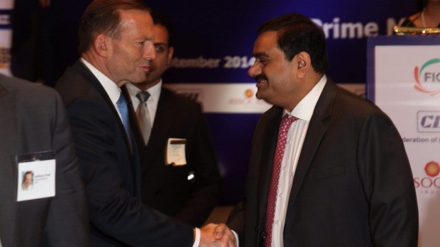 Gautam Adani with Tony Abbott
