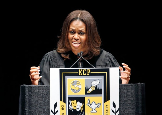 Michelle Obama Speech at King College Prep High School in Chicago