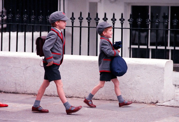 Prince Harry on His Way to School