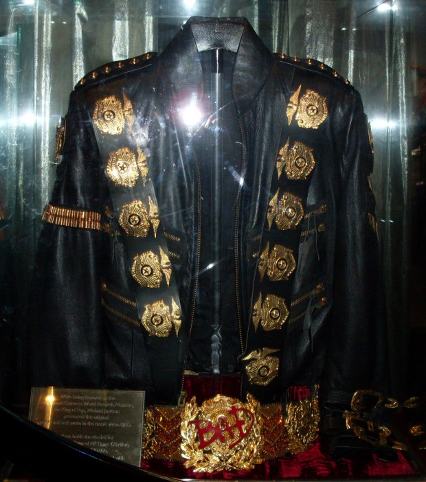 Jackson wore a gold plated military Style Jacket