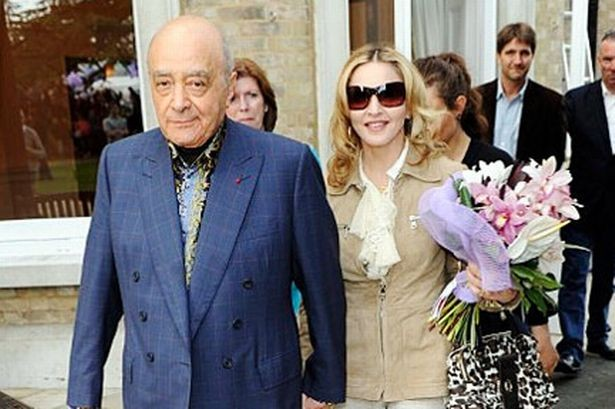Madonna & Mohamed Al Fayed