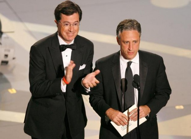 Stephen Colbert with Jon Stewart At Award Ceremony