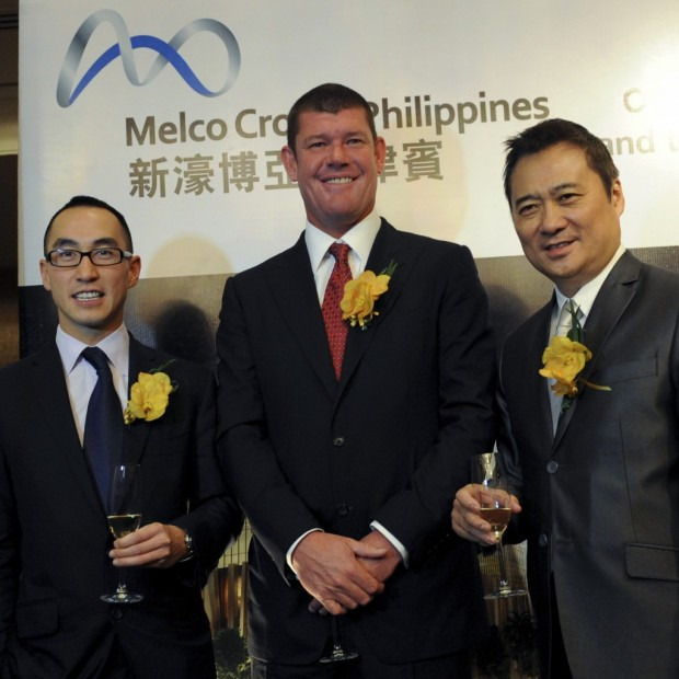 Lawrence Ho With James At Melco Phillipines