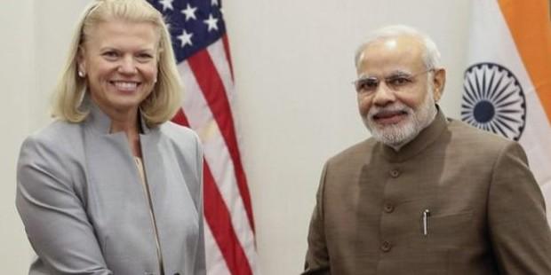 Ginni Rometty With Narendra Modi