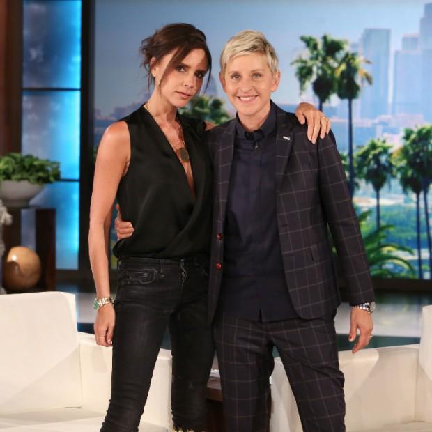 Victoria Beckham With  Ellen