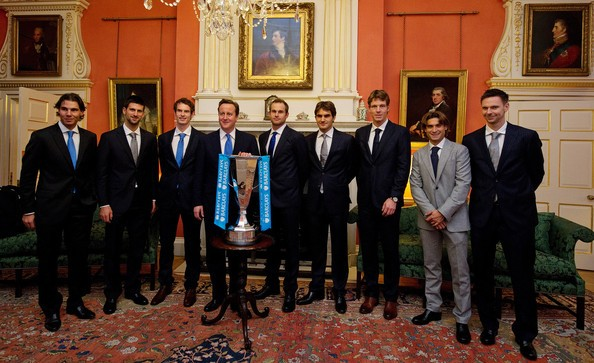 The Whole Team With Prime Minister David Cameron