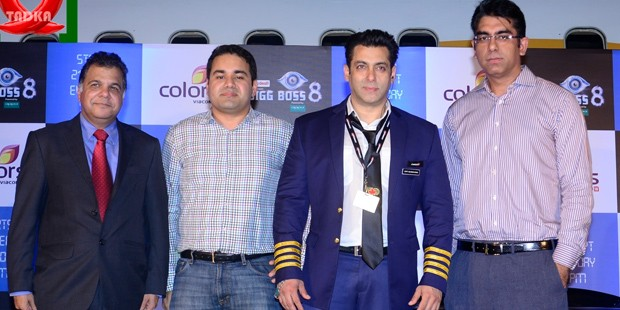 Kunal Bah With Salman Khan At BigBos