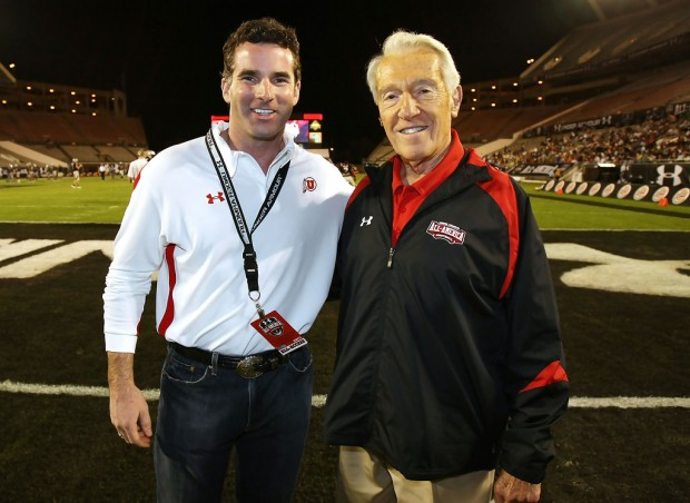 Kevin Plank With Coach Marv Levy