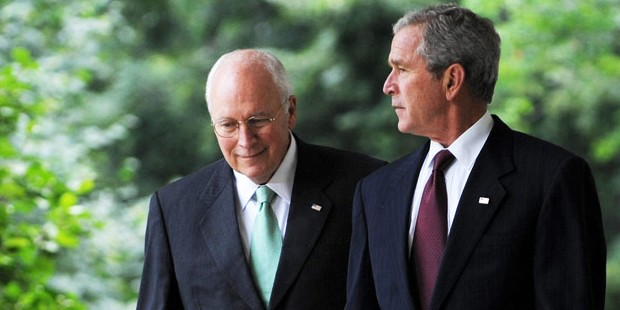 Dick Cheney with George W. Bush