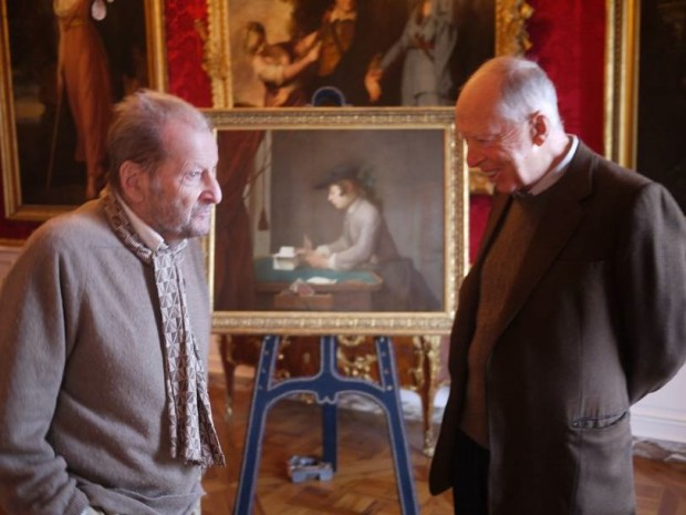 Lucian Freud and Jacob Rothschild at Waddesdon