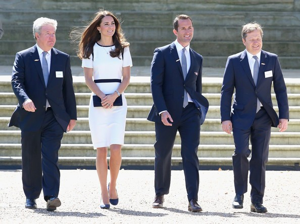 Kate Middleton, Ben Ainslie, Keith Mills With Charles Dunstone
