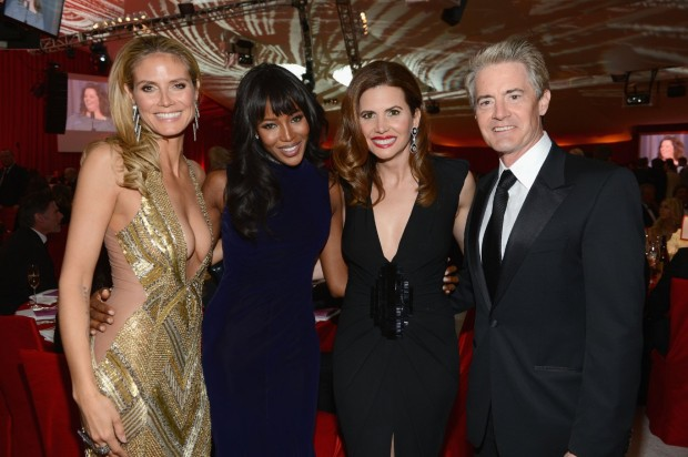 Kyle MacLachlan, Naomi Campbell, Heidi Klum With Desiree Gruber