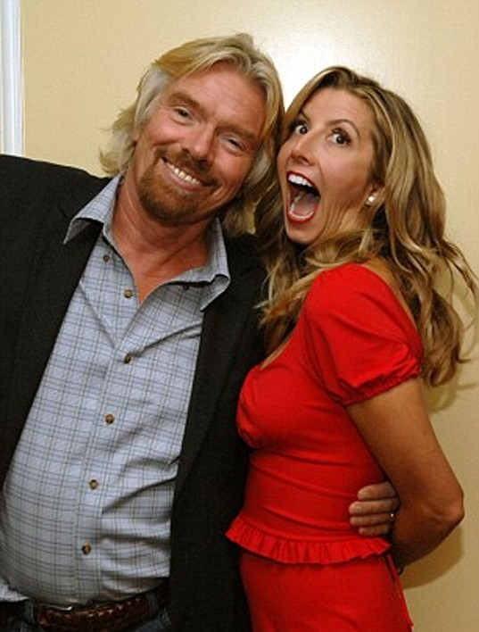 Sir Richard Branson and Sara Blakely