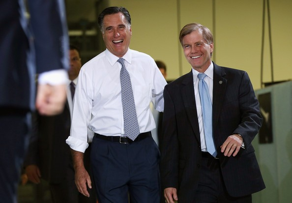 Mitt Romney with Bob McDonnell