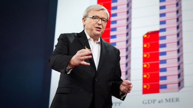 Kevin Rudd Talking At TED