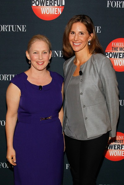 Kirsten Gillibrand with Leigh Gallagher