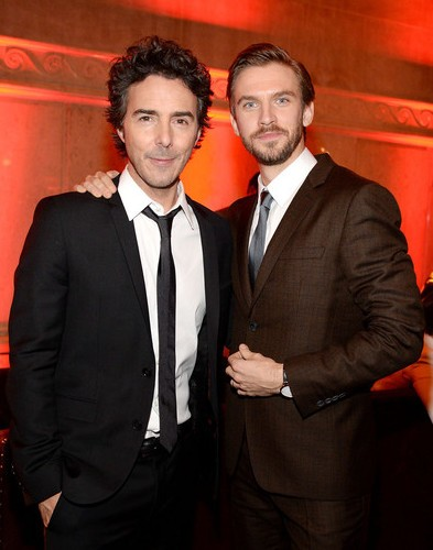 Director Shawn Levy (L) and actor Dan Stevens attend the Night At The Museum Secret Of The Tomb New York Premiere